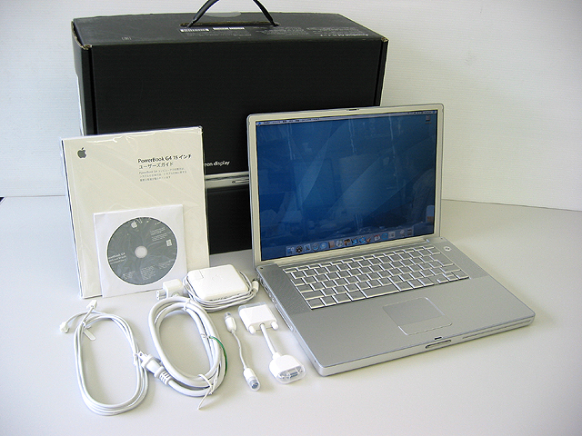 中古 Apple PowerBook G4 Aluminium 1GHz 15.2インチ