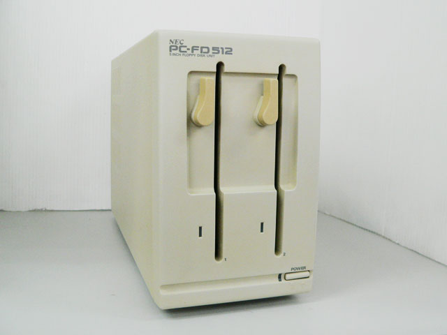 98周辺機器販売 外付5インチFDダブルドライブ PC-FD512 NEC