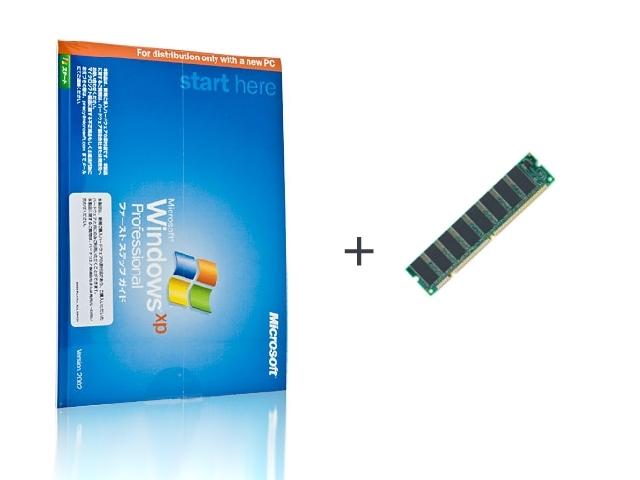 ソフトウェア販売 Windows XP Professional SP3 OEM+メモリ Microsoft