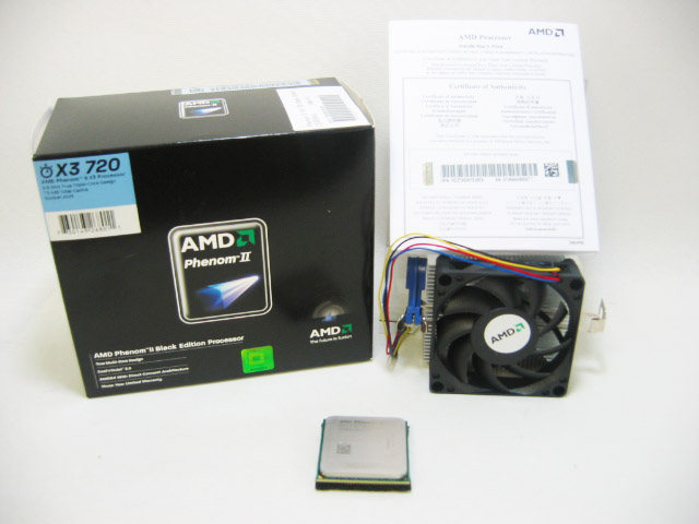 CPU Phenom II X3 720 BlackEdition