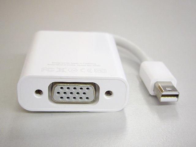 Mini DisplayPort-VGA アダプタ