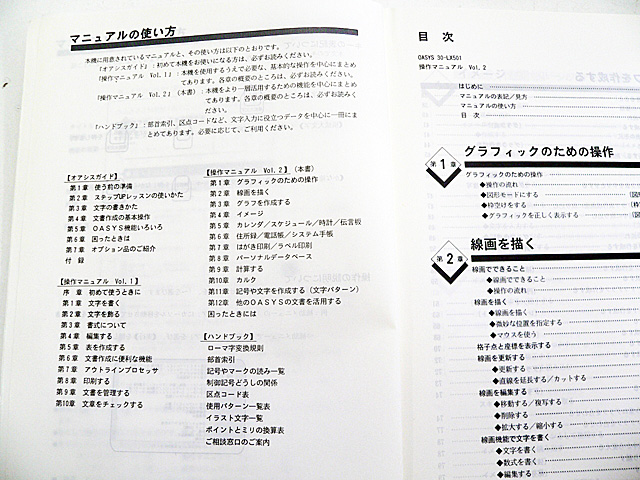 ワープロ周辺販売 30-LX501 説明書 操作マニュアル2 富士通