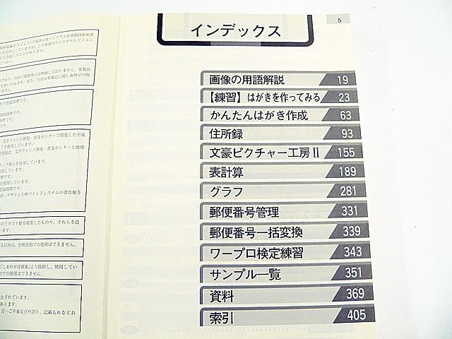 ワープロ周辺販売 JX-A300 説明書 はがき・お絵かきガイド NEC