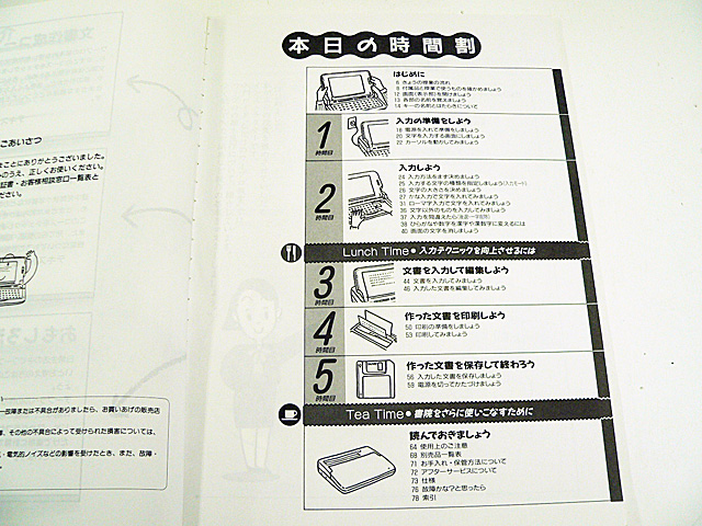 ワープロ周辺販売 WD-Y340/Y380 説明書 入門ガイド SHARP
