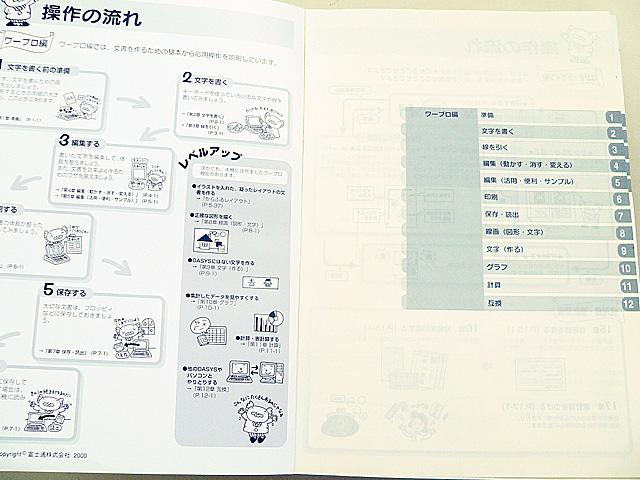 ワープロ周辺販売 LX-C700 説明書 操作マニュアル 富士通
