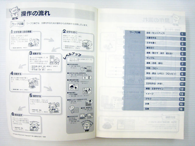 ワープロ周辺販売 LX-S5000 説明書 操作マニュアル 富士通