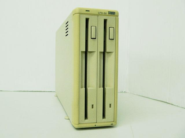 98周辺機器販売 外付5インチFDダブルドライブ LFD-52 Logitec