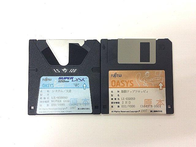 ワープロ周辺販売 LX-6500SD システムディスクセット 富士通