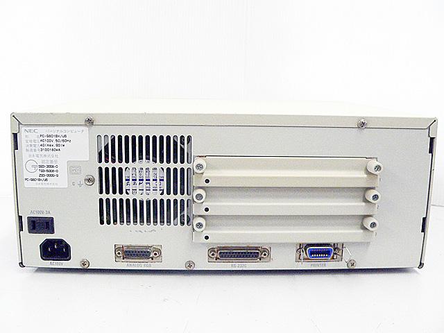 98デスクトップ販売 PC-9801BX/U6 NEC