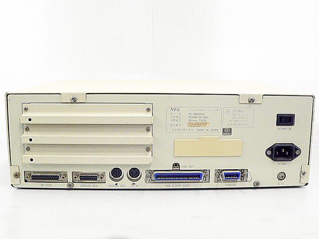 98デスクトップ販売 PC-9801UX21 NEC
