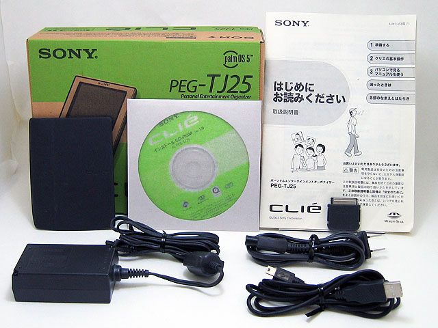 PDA販売 CLIE PEG-TJ25 ブラック SONY