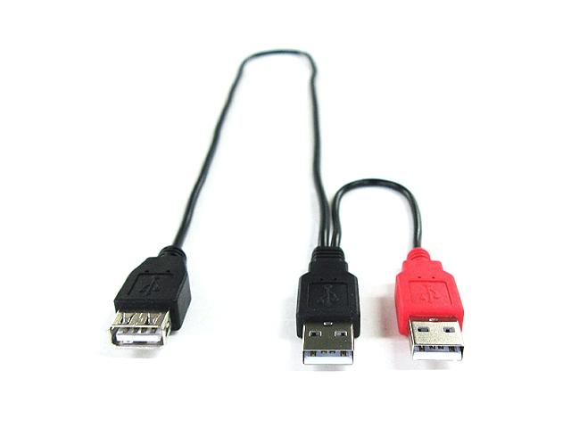 GM-UH009Y Y字型USB(Aオス-Aメス)延長ケーブル ケーブル・コネクタ