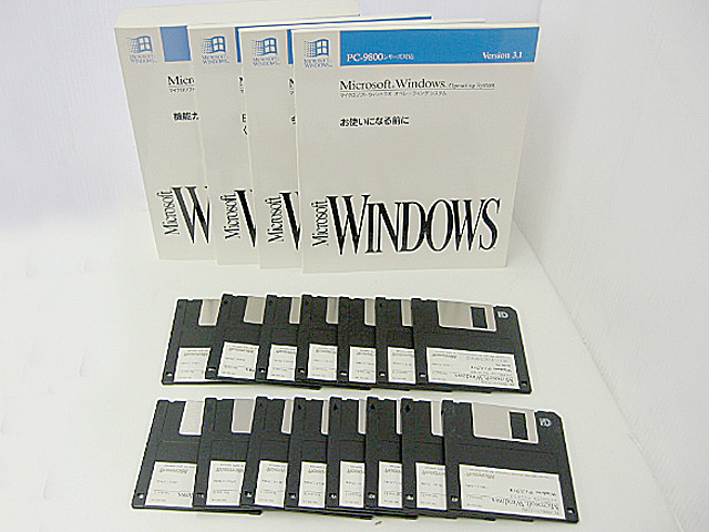 中古[FDのみ 3.5FD] Microsoft Windows3.1 PC-9800シリーズ対応