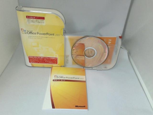 ソフトウェア販売 PowerPoint 2007 アップグレード Microsoft