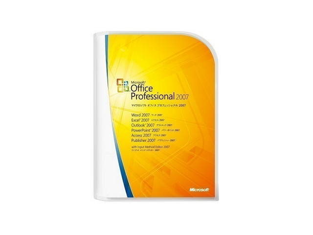 ソフトウェア販売 Office Professional 2007 Microsoft