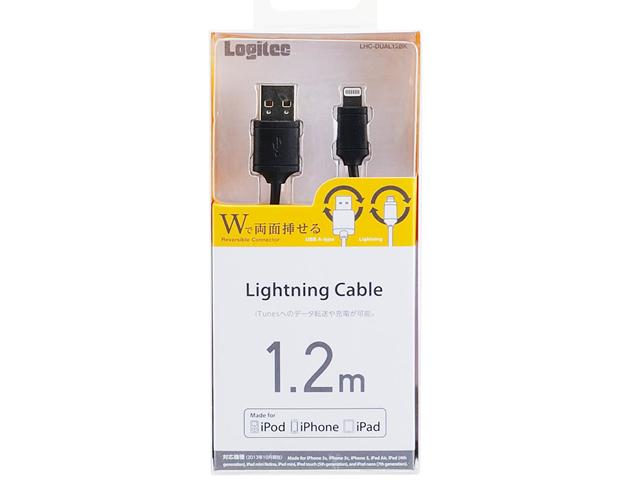 両面挿し Lightning to USBケーブル iPhone5/iPad mini インターフェース