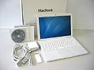 中古Mac:MacBook 2.1GHz 白 13.3インチ